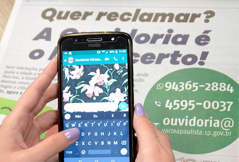 Solicitações por WhatsApp na Ouvidoria têm número crescente