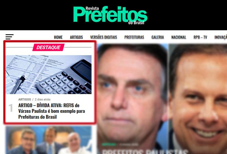 Revista Prefeitos do Brasil destaca iniciativa inovadora da Prefeitura de Várzea Paulista