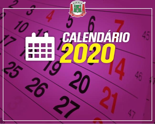 Prefeitura divulga feriados e pontos facultativos de 2020