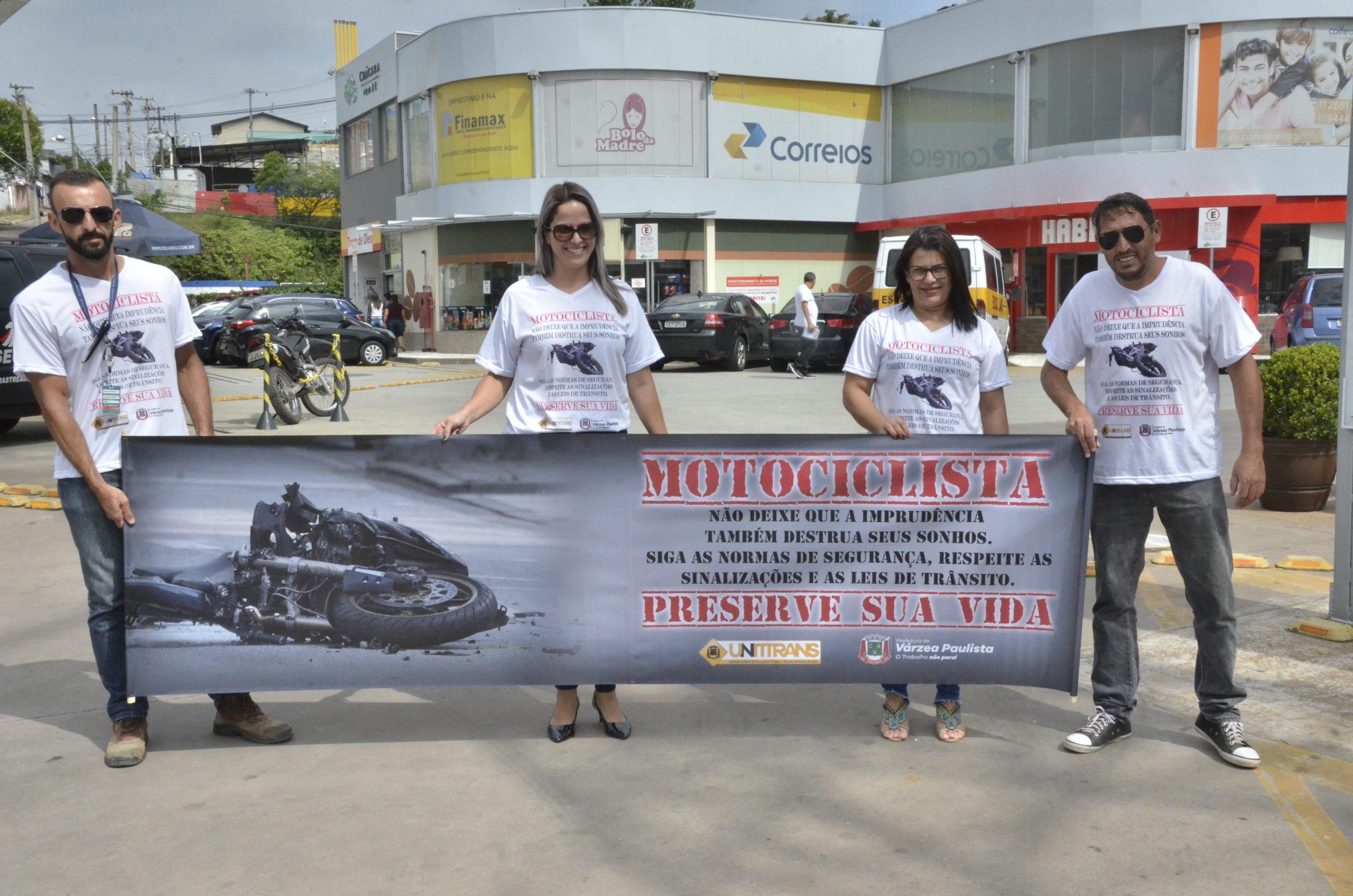 Prefeitura inicia campanha de prevenção a acidentes de moto