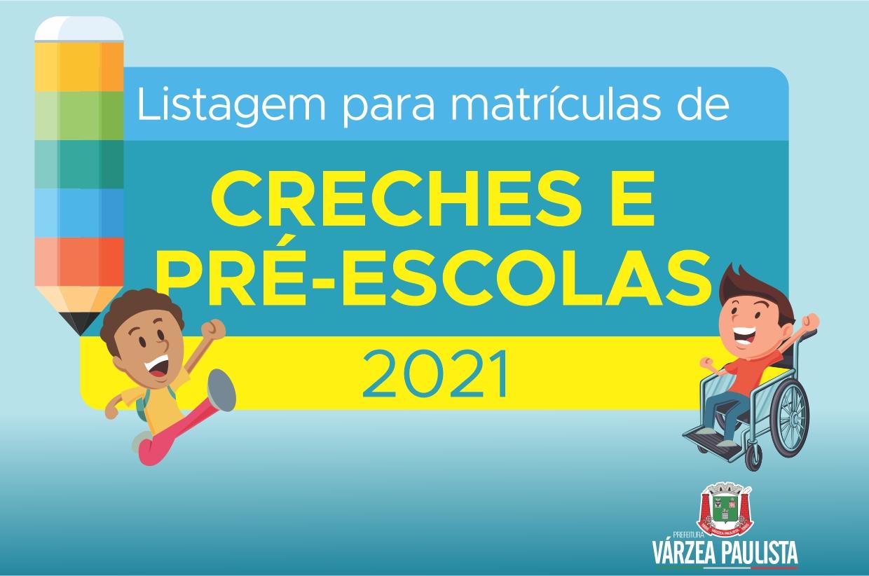 Prefeitura de Várzea Paulista divulga listagem para matrículas de creches e pré-escolas