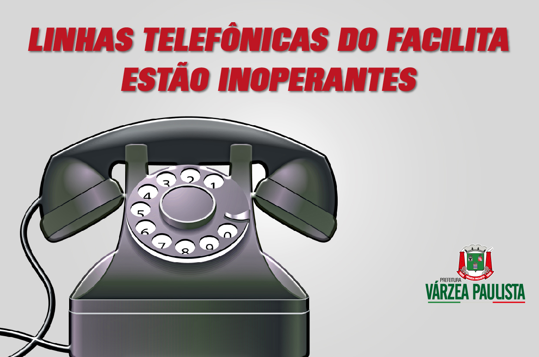 Linhas telefônicas do Facilita, Saúde e Ouvidoria estão inoperantes