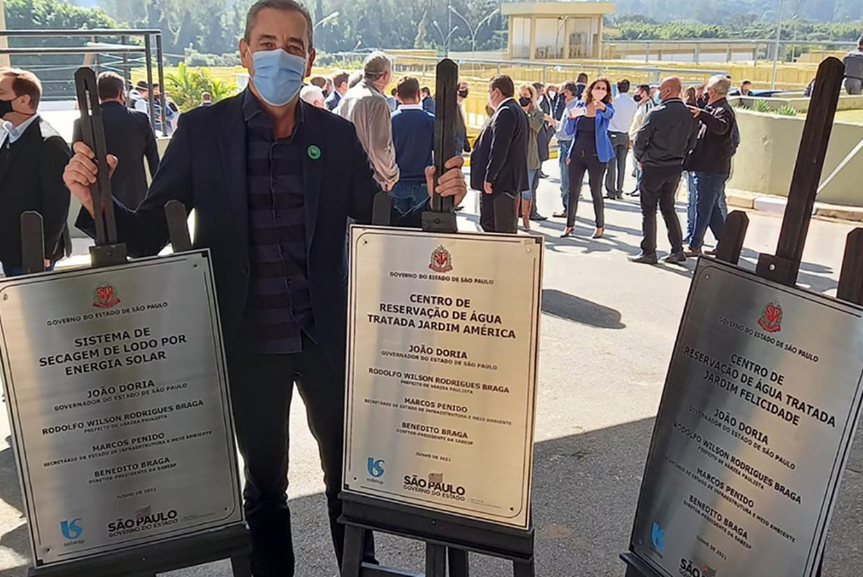 Professor Rodolfo e Sabesp anunciam R$5 milhões em obras de saneamento para Várzea Paulista