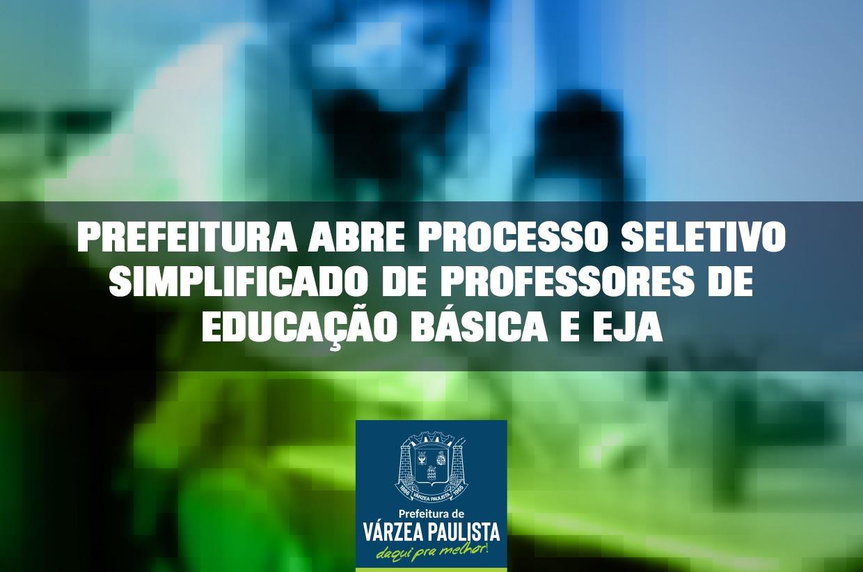 Prefeitura abre processo seletivo simplificado de professores de Educação Básica e EJA