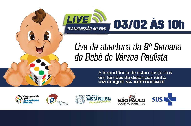 Live marca abertura da 9ª Semana do Bebê