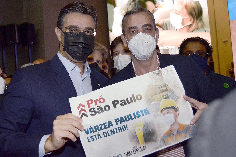 Prefeito professor Rodolfo participa de lançamento do programa Pró São Paulo