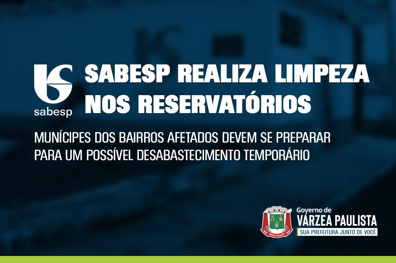 Sabesp realiza limpeza de reservatórios na próxima semana