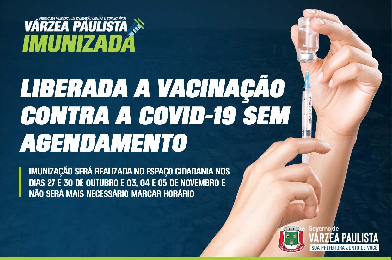 Várzea Paulista libera vacinação contra a Covid-19 sem agendamento