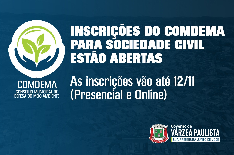 Inscrições do COMDEMA para Sociedade Civil estão abertas